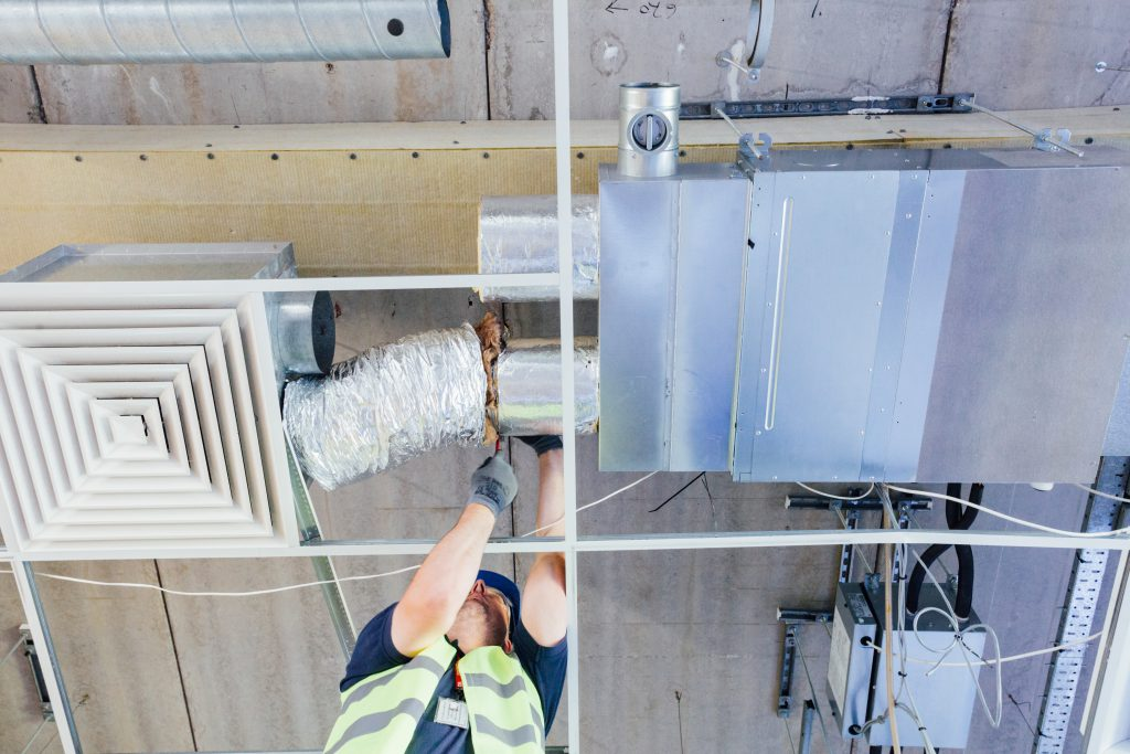 Air conditioning system in replacement process cat a fit out