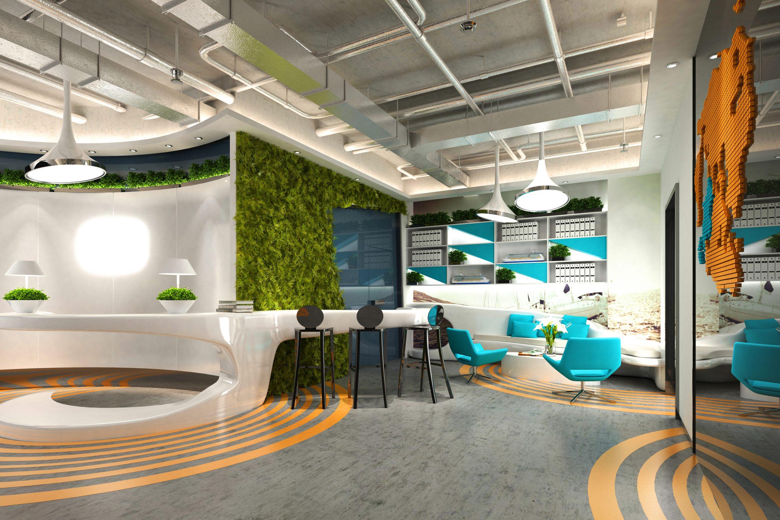 colourful office refurbishment
