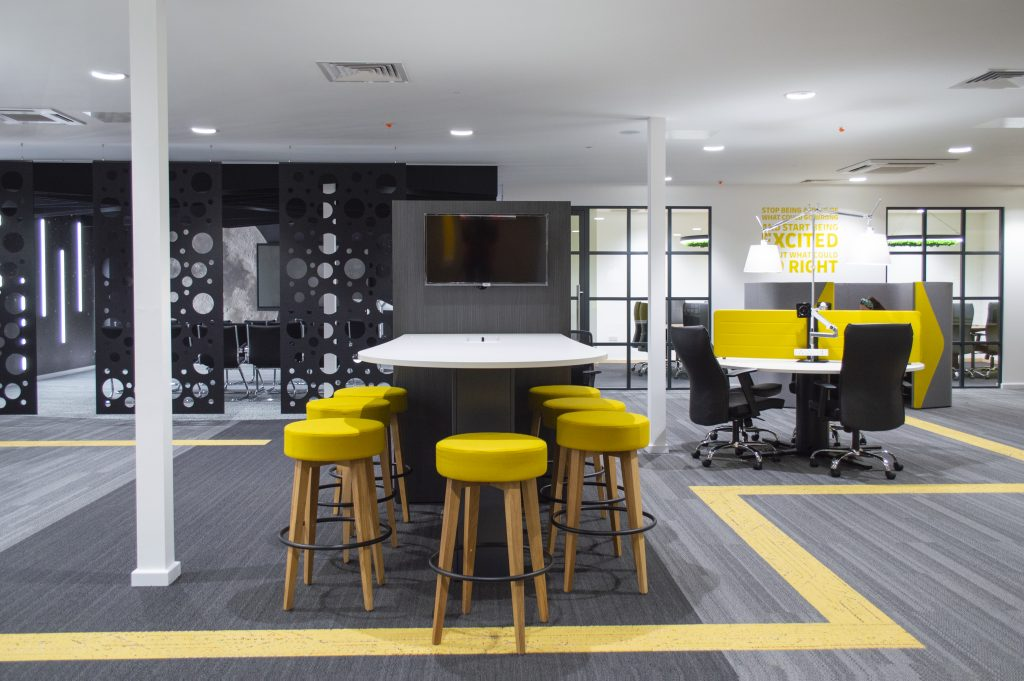 co-working office design and fit out
